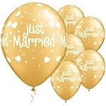 Ballon Just Married Hearts & Hearts