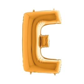 Folieballon letter E goud