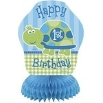 Turtle 1st Birthday Mini Centerpiece