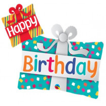 Happy B-Day Presents SuperShape Folie Ballon