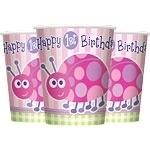 Ladybug 1st Birthday Bekers