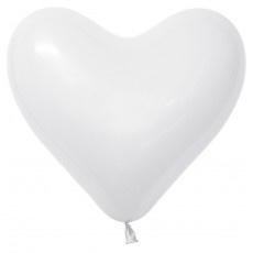 Harten ballonnen wit