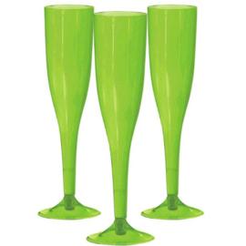 Plastic Champagneglazen Lime Groen