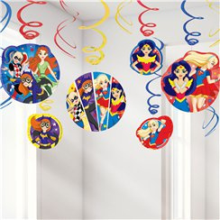 DC Super Hero Girls Hanging Swirls