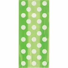 Cello Bags Dots Lime
