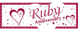 Banner Ruby Wedding