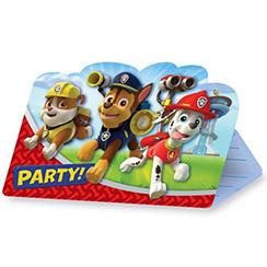 Paw Patrol Uitnodigingskaarten