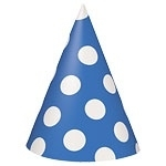 Polka Dots Blauw Party Hoedjes