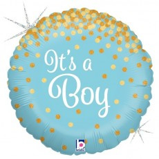 Its a Boy Glittering Foil