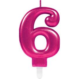 Cijferkaars Fucshia nr. 6
