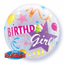 Birthday Girl Bubble Ballon