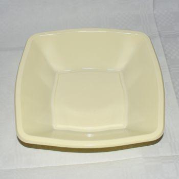 Plastic Bowl Vierkant Ivoor