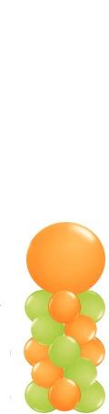 Ballonnenpilaar small met topballon