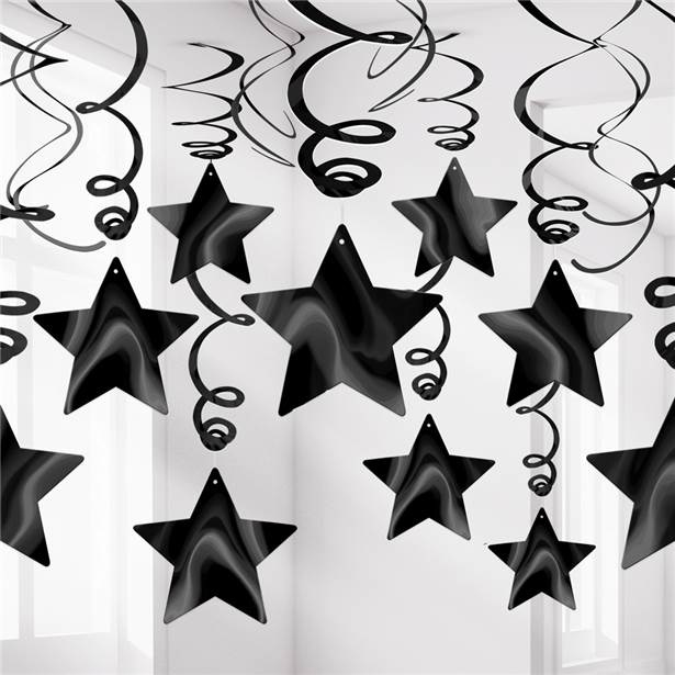 Black Hanging Star Decoration