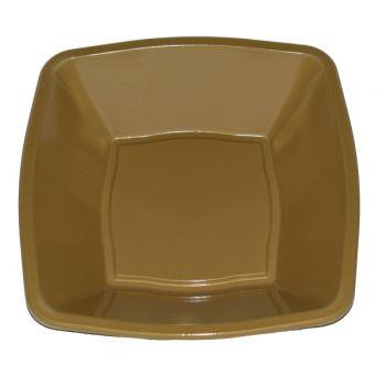 Plastic Bowl Vierkant Goud