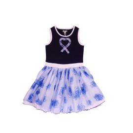 00013 LoFff jurk dansing roses blue Z8311-03