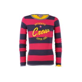 004 Ninni Vi shirt streep rood NVFW17-06