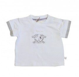 0004  Noukie`s wit shirt maat 104