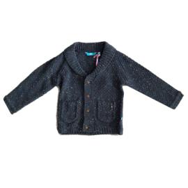 0001 Lief vest jacket  blauw/grijs maat 80