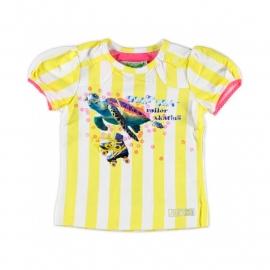 000 Little feet gestreept shirtje geel/wit T34B4