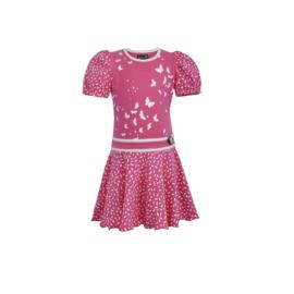00 LoFff jurk roze  Z8552-47