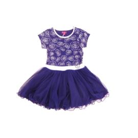 1  LoFff dancing jurk -blauw-wit Z8119-01A