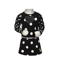 00001  LoFff jurk ruffly black B8413-90