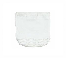 001 Hanssop broekje wit met roezeltje maat 62/68