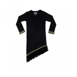 010 LavaLava jurk Aztec fringes black 18-263