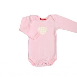 001 Hanssop zacht roze romper hart maat 74/80