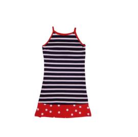 00013 LoFff jurk ronda blauw-rood  Z8305-01