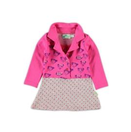 10 XS Feet jurk roze/paars D91-x5  50-56