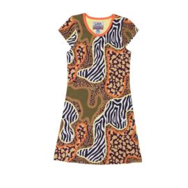 00161 LavaLava jurk Taiwan -Zebra and Panther- LAVA-18-168