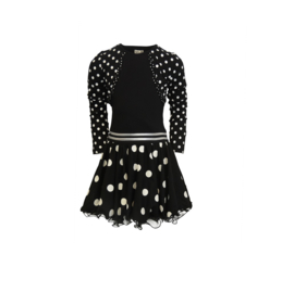 000015 LoFff  jurk bolero zwart  Z8415-90