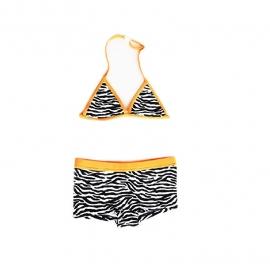 001 Just beach bikini panama zwart wit