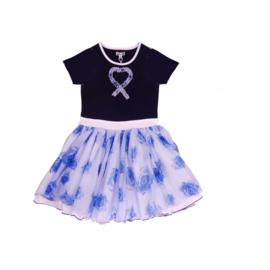00013 LoFff jurk dansing roses blue Z8311-03A