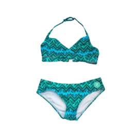 001 ZEE & ZO Tulip Feather Blue bikini
