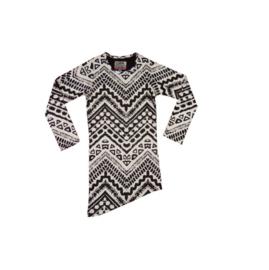 01 LavaLava jurk Aztec zwart-wit 18-229