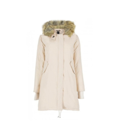 0121  Airforce lange fishtaile parka jas white 1655-102