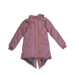 0121 Airforce lange fishtaile parka jas paars HR72W0119 maat 128-134