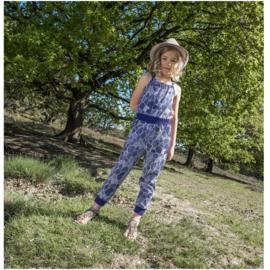 00001 LoFff  jumpsuit - blauw -Z8116-01