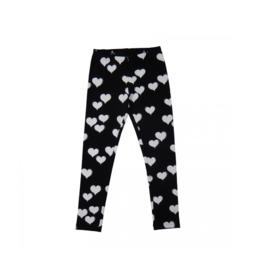0001 Happy Legging full length - black heart HP-18-251