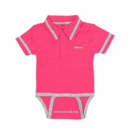 0001 Shirtje romper roze  maat 74