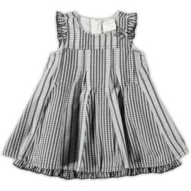 0001 S&D le chic geruite  grijze jurk maat 74
