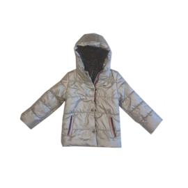 0081 Far out meiden winterjas zilver  maat 104/110