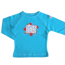 00011 Shirtje shirt  blauw maat 74