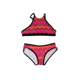 001 ZEE & ZO Buttercup Feather Orange bikini