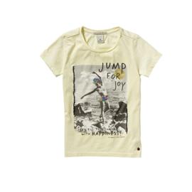 081 Scotch&Soda  t-shirt geel maat  128