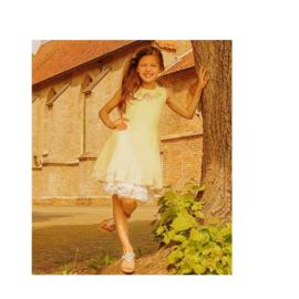 000054 LoFff jurk - Border dress bronze silk Z8184-01