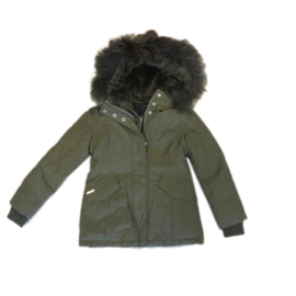 001 Airforce  parka jas groen HR72W0138 maat 128-134
